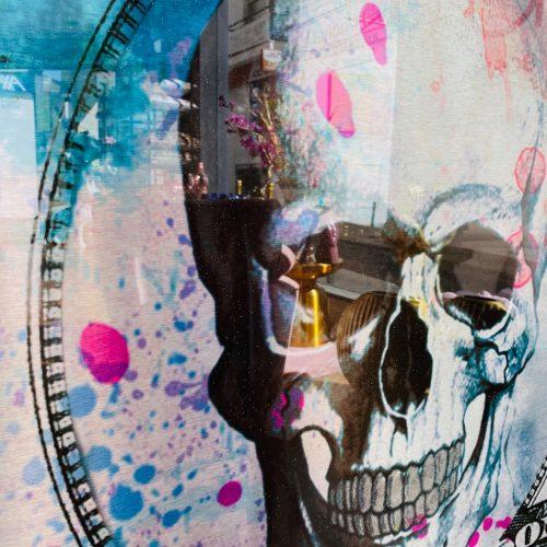 Ghost art Dollar Skull