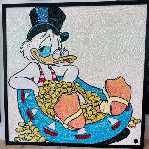 Tamara Sneep Dagobert duck glitterator